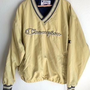 Champion Pullover Windbreaker Spell Out XL